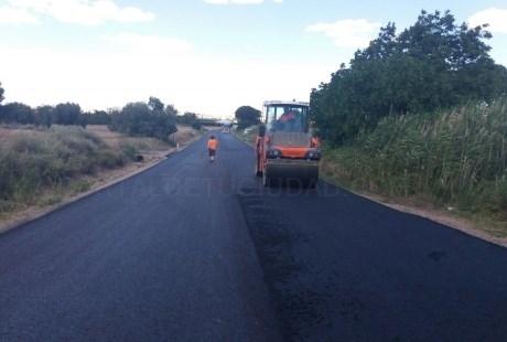 Finalizados los trabajos de mejora de la carretera A-1406 en La Puebla de Híjar