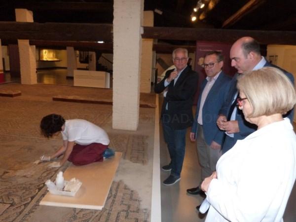 El Museo de Teruel restaura los mosaicos de Calanda para garantizar su conservación y mejorar su presentación al público