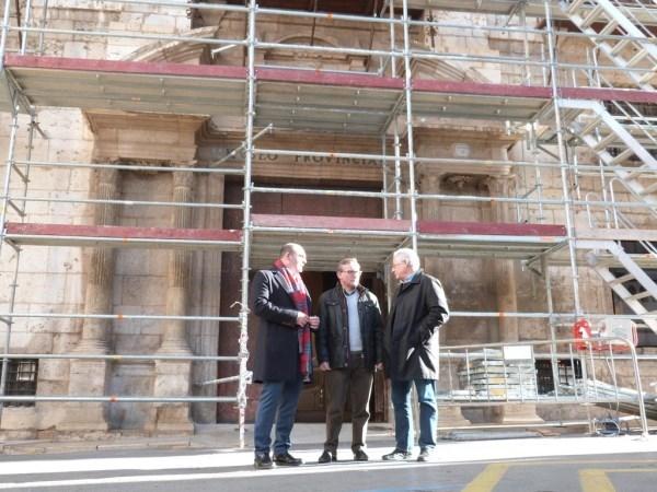 El Museo de Teruel restaura la fachada principal de su sede