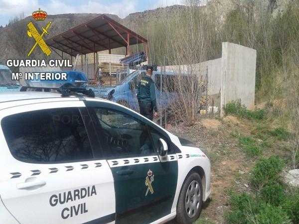 La Guardia Civil detiene a una persona por dos supuestos delitos de robo de material de construcción en Villel