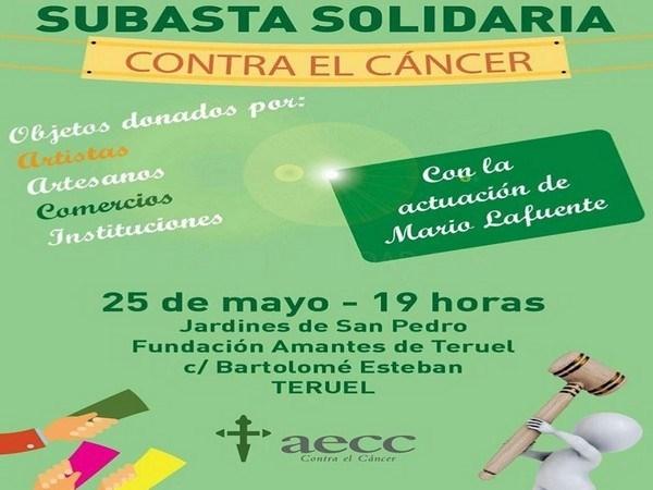 La AECC en Teruel organiza este viernes una puja con efectos personales de famosos y objetos curiosos