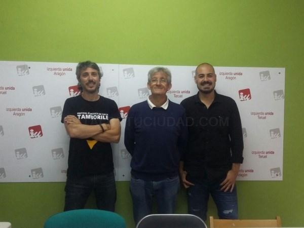 IZQUIERDA DAVID MANSILLA, COORDINADOR COMARCAL, CENTRO: PABLO JORGE PINAZO, EX COORDINADOR LOCAL DE TERUEL, DERECHA NICOLáS LóPEZ SANCHO, COORDINADOR LOCAL DE TERUEL