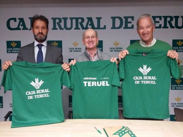 Caja Rural de Teruel firma un convenio de patrocinio con el Club de Atletismo La Salle