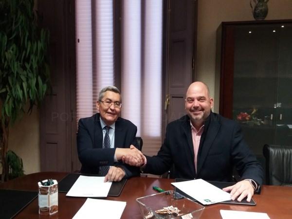 Caja Rural de Teruel renueva su compromiso con la Camara de Comercio