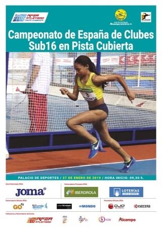 Seis atletas de Animafys-Atlética Turolense a la final de la Copa de España Sub-16 de Atletismo en Pista Cubierta