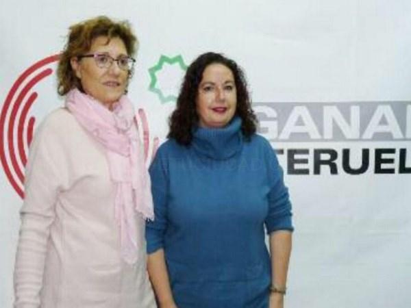 ANABEL GIMENO PORTAVOZ DE GANAR TERUEL EN EL AYUNTAMIENTO Y M.CARMEN TORTAJADA, CONCEJALA DE GANAR TERUEL