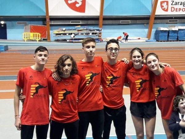 Gran aportación de los Sub 16 de Animafys-Atlética Turolense a la selección de Aragón en el Intercomunidades de Pista Cubierta