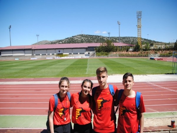 Destacada actuación de los cinco atletas de Anymafis-Atlética Turolense con la Selección de Aragón en el Intercomunidades de Soria