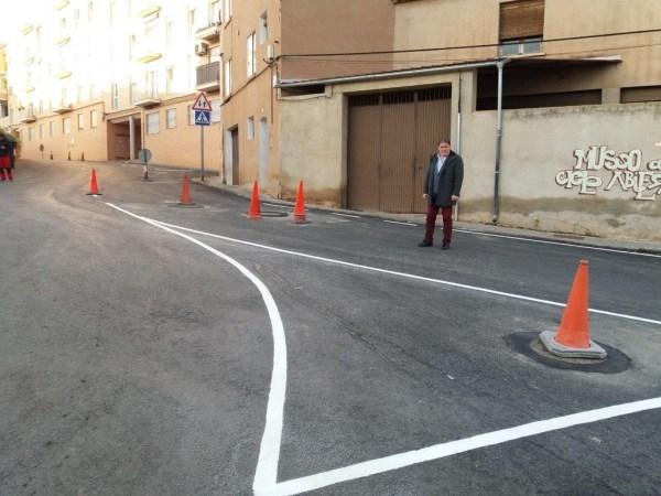 Finaliza el Plan de Asfaltado 2019 en Teruel con el repintado de la Cuesta de la Enriqueta