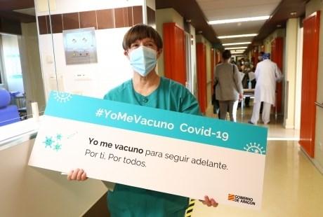 Comienza la vacunación en profesionales sanitarios de Atención Especializada en Aragón