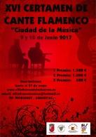 """XVI CERTAMEN DE CANTE FLAMENCO """"CIUDAD DE LA MúSICA"""""""