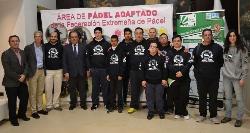 La Fundación Jóvenes y Deporte presenta su nueva área de pádel adaptado