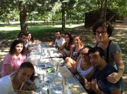 Jóvenes de toda España trabajan en Jerte con usuarios y usuarias de AEXPAINBA en el campo de trabajo 'Capacitados para disfrutar 3'