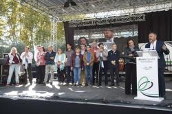 """Más de 40.000 extremeños exigen en Madrid un tren digno """"Ya"""" para Extremadura."""