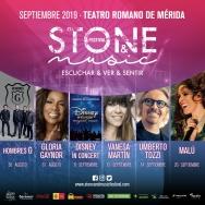 Gloria Gaynor, Malú y Umberto Tozzi, entre otros, actuarán en el 'Stone & Music Festival' de Mérida en 2019.