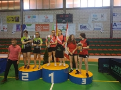 El equipo femenino de Tenis de Mesa de  Villafranca de los barros quedó campeón de Extremadura.