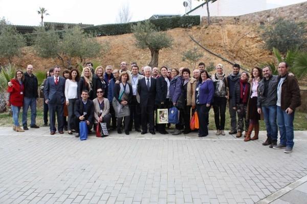 Díez Solís da la bienvenida a los socios europeos que participan en un proyecto con el IES 'Los Moriscos' de Hornachos