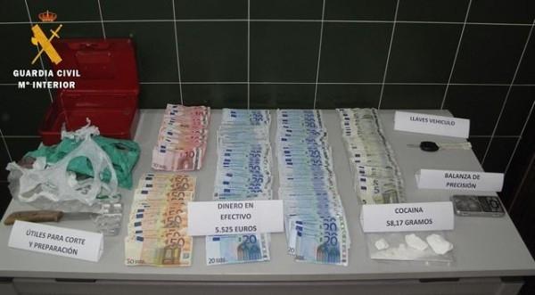 Hallados 58 gramos de cocaína en la casa de un joven en Zafra