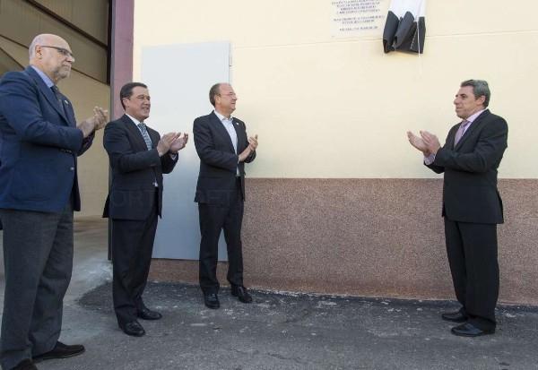 Monago inauguró la ampliación de la Bodega Sociedad Cooperativa Nuestra Señora de la Soledad en Aceuchal