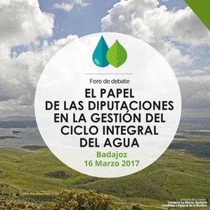 Los presidentes de las diputaciones de Badajoz y Jaén abrirán el foro sobre la gestión del agua desde una perspectiva provincial
