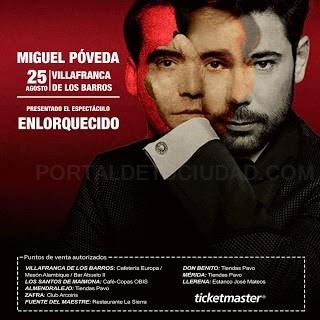 Miguel Poveda será el artista protagonista del verano en Villafranca.