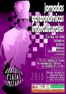 Jornadas gastronómicas interculturales.
