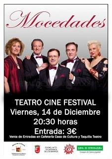 El grupo musical Mocedades actuará este viernes en el Teatro Cine Festival a las 20.30h.
