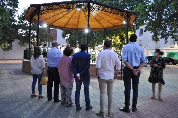 El presidente de la Diputación de Badajoz visita las obras de sustitución del alumbrado público de Llerena