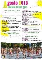 Programa de actividades en Valencia de don Juan AGOSTO 2015