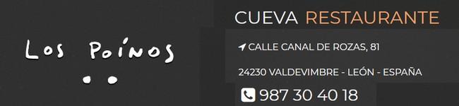 Cueva Restaurante Los Poinos - Valdevimbre - Tlf 987 30 40 18