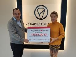 El Olímpico de León hace entrega a Cruz Roja León del cheque de su Maratón de Ciclo Indoor Solidario