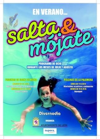 La campaña 'Salta y mójate' vuelve a las piscinas de La Palomera y Sáenz de Miera con hinchables, zumba y aquagym