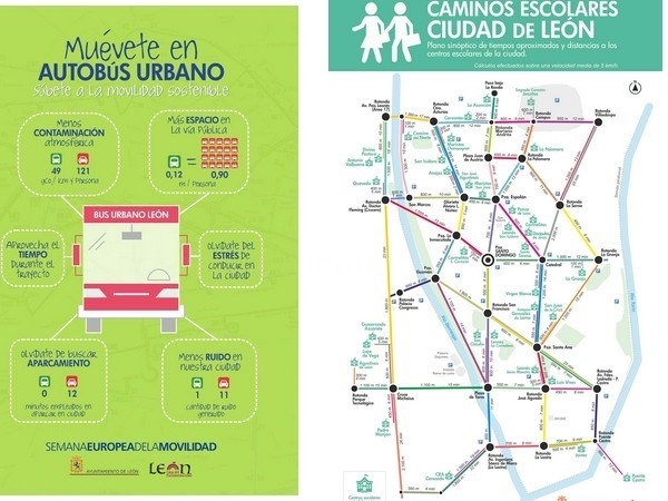 León presenta la Semana de la Movilidad centrada en la promoción de itinerarios seguros para los escolares