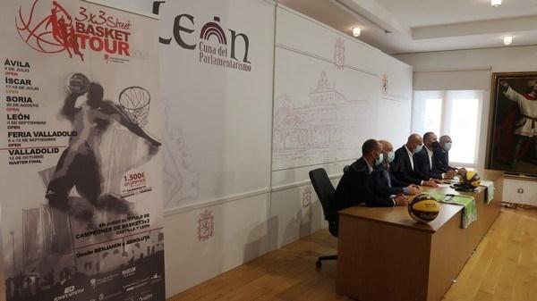El '3x3 Street Basket Tour' llega a la ciudad de León