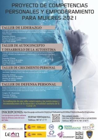 El Ayuntamiento de León pone en marcha el 'Proyecto de competencias personales y empoderamiento para mujeres'