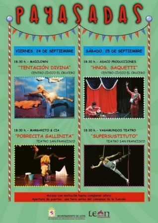León acoge este fin de semana cuatro espectáculos de payasos, clown y teatro