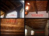 balaustres imitación madera, vigas imitación madera, porches en hormigón imitación madera