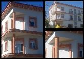 decoración de fachadas imitación madera blanca en españa, imitacion de la madera