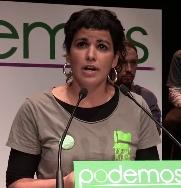 Teresa Rodríguez (Podemos) dona 2.500 euros de su sueldo de eurodiputada a los trabajadores de Coca Cola en Fuenlabrada