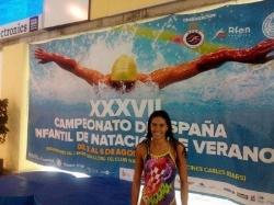La villanovense Estela González campeona infantil de 100 metros braza