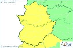 Extremadura continuará este martes en alerta amarilla por lluvias