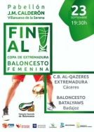Villanueva de la Serena acogerá la final de la Copa de Extremadura Femenina de baloncesto