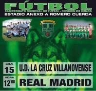 El domingo 15 de enero a las 12,00 horas la Cruz juvenil recibirá al Real Madrid en el Romero Cuerda.