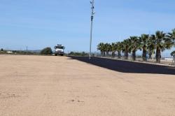 Esta semana finalizan los trabajos de alquitranado del aparcamiento del recinto ferial