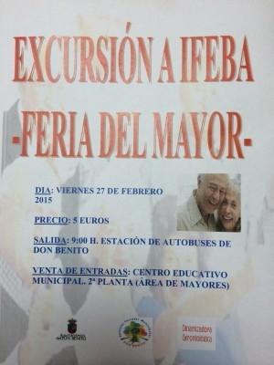 Servicios Sociales organiza una visita a la XVIII Feria de los Mayores de Extremadura que se celebrará en Badajoz