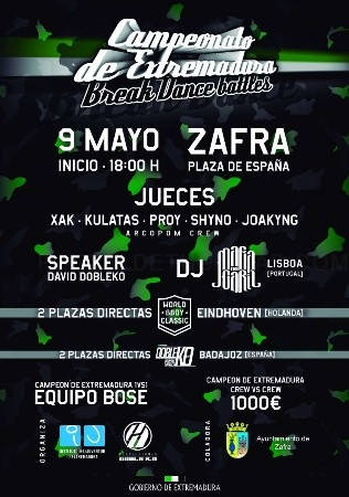 Abierto el plazo para inscribirse en el IV Campeonato de Break Dance de Extremadura que se celebrará en Zafra