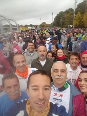 """De experiencia única, califican los integrantes de """"Villanueva Corre...y Mucho"""" su participación en la maratón de Nueva York."""