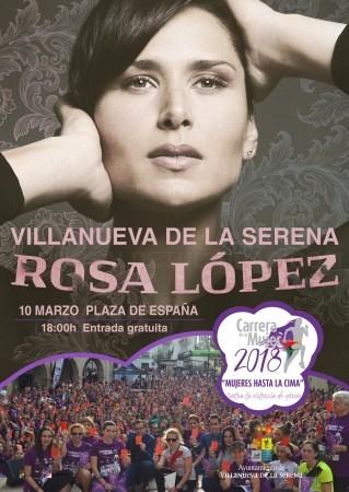 Rosa López en concierto CarreraDeLaMujer 2018.