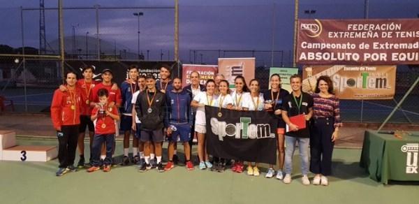 El Club de Tenis Sportem en femenino, y el Club de Tenis Cabezarrubia en masculino, se proclaman Campeones de Extremadura por Equipos Absoluto