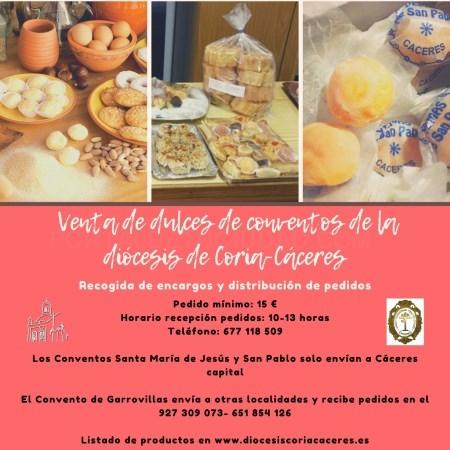 Venta de dulces de los conventos de la Diócesis de Coria - Cáceres
